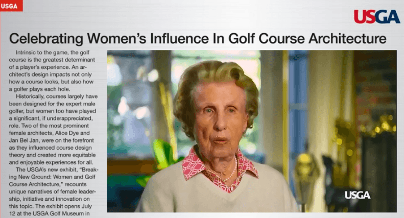 "USGA Museum celebrates ""Women and Golf Course Architecture"""
